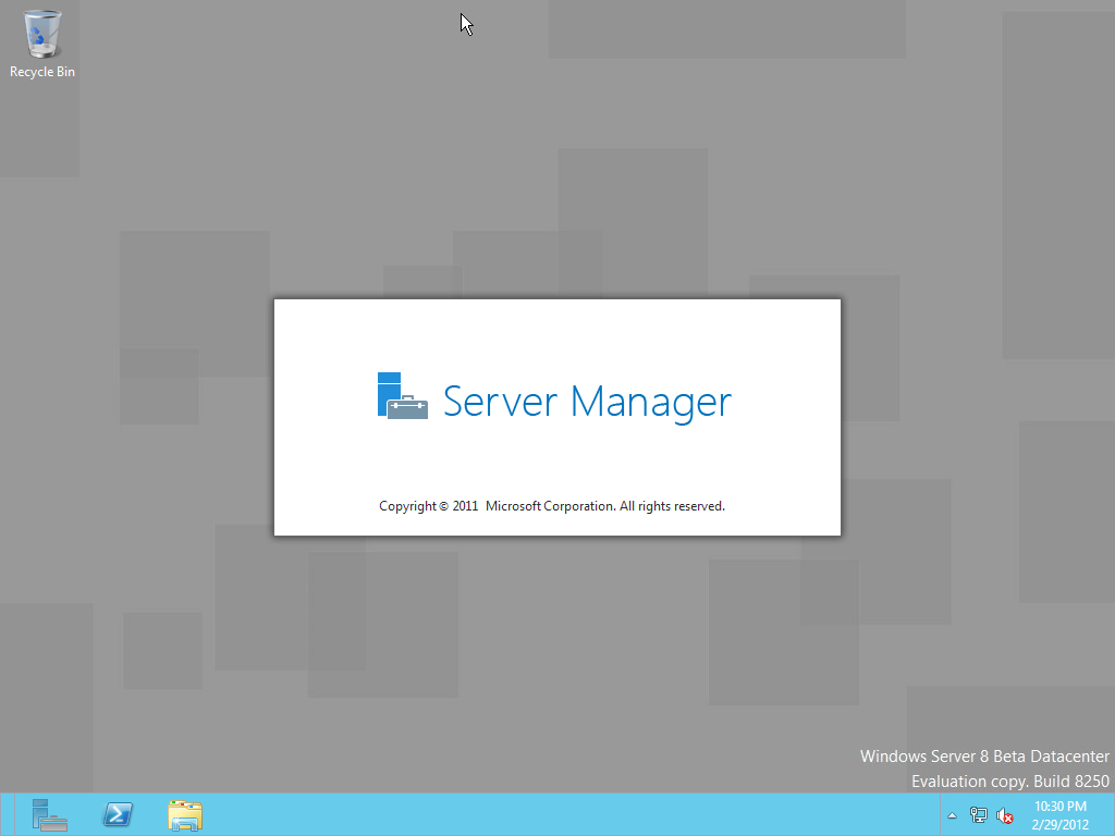 Of windows server 8 and server manager starting automatically