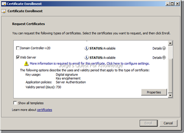 2012 05 09 installing and configuring adfs v2 as an sts server figure 4 selecting the web server certificate template yelopaper Image collections