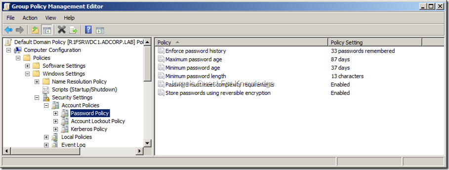 2010-09-27) Password Policies And Account Lockout Policies Within An