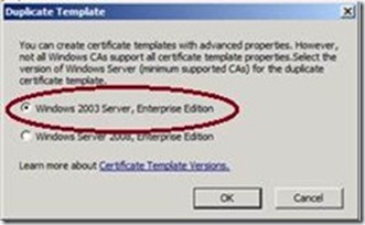 Active directory certificate services adcs jorges quest for well have to specify that were creating a template for windows 2003 server enterprise edition which will create a v2 certificate template yadclub Image collections