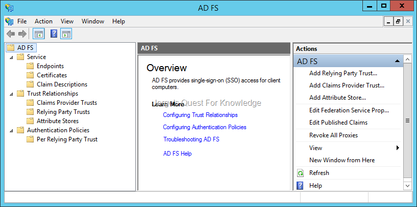2014-02-23) Gathering Architectural Details From Your ADFS