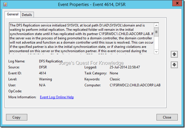 2014-07-31) Fixing AD/SYSVOL Replication And Reconnecting A