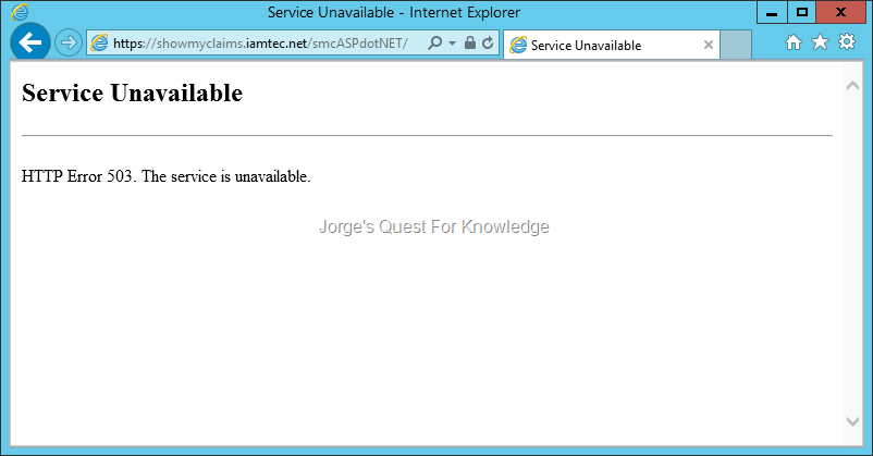 2015-07-06) HTTP Error 503 The Service Is Unavailable – When ...