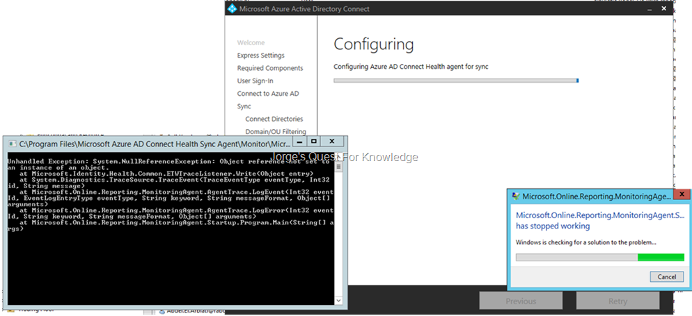 2016-05-16) Azure AD Connect Health Throws An Error During Azure AD