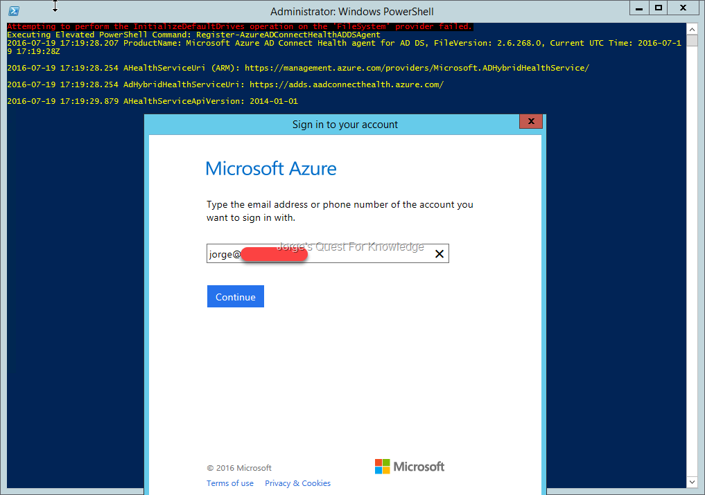 2016-07-20) Installing And Configuring Azure AD Connect