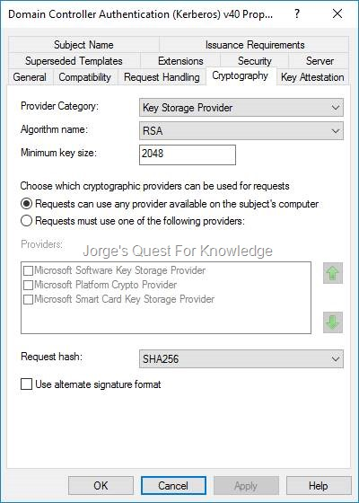 Active Directory Certificate Services (ADCS) « Jorge's Quest For