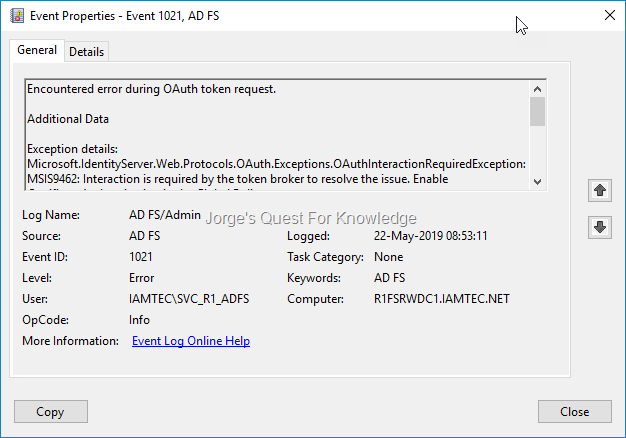 Active Directory Federation Services (ADFS) « Jorge's Quest