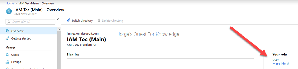 Windows Azure Active Directory « Jorge's Quest For Knowledge!
